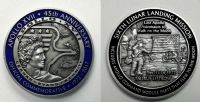 NEW Apollo 17 45 Years (2) Minted With Flown To Lunar Orbit Metal
